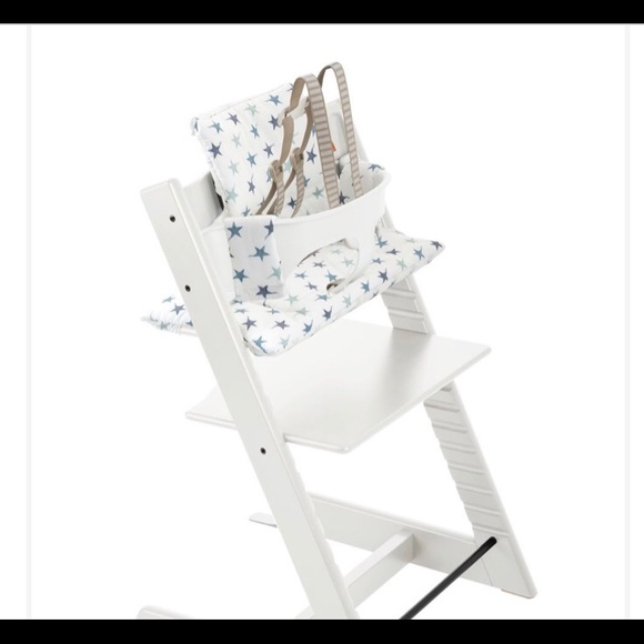 Excellent Tripp Trapp Grey Star Stokke High Chair Cushion Nwt Caraccident5 Cool Chair Designs And Ideas Caraccident5Info
